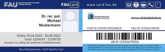 FAUcard Beschäftitge